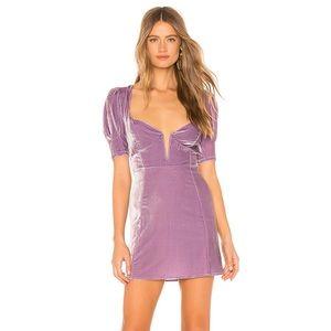 For love and Lemons Viva Velvet Mini Dress